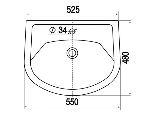 semi-recessed_wash-basin_style_550dr